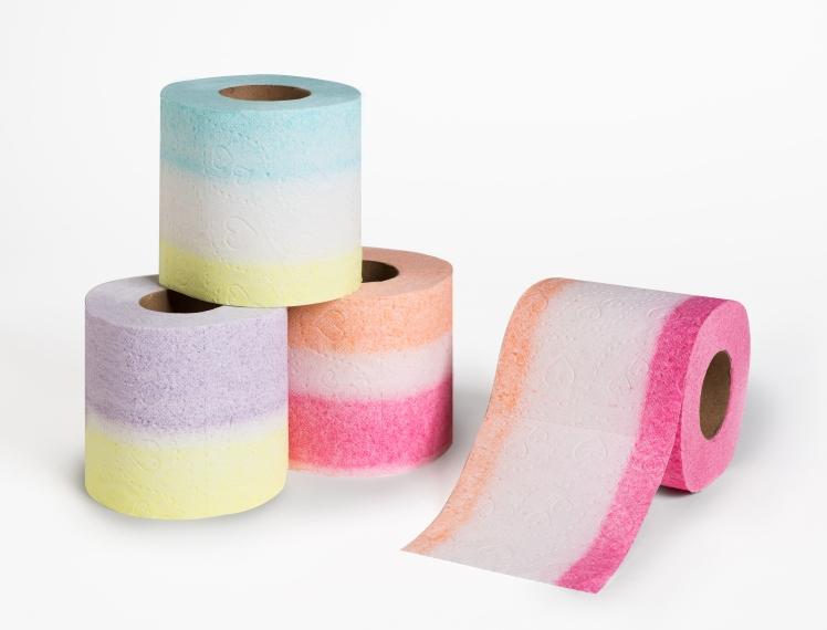 נייר טואלט צבעוני קומפוזיציה 3