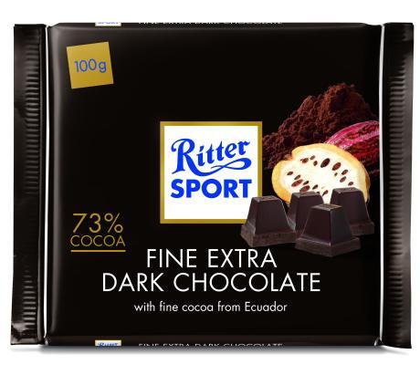 שוקולד ריטר ספורט 73% מוצקי קקאו