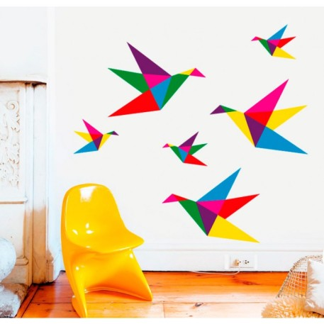 ציפורי אוריגמי שניתן לבחור את הצבעים שלהם