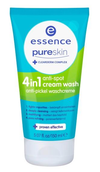 essence pure skin anti spot 4in1 anti-pickel waschcreme