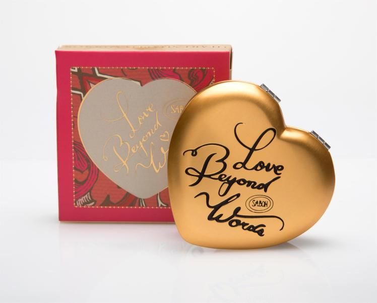 SABON, מראה אישית בצורת לב עם חריטה 35שח, צלם דן לב (Custom)